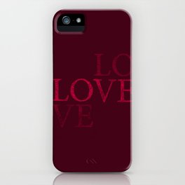 Love Text iPhone Case