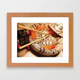 Maki tajine Framed Art Print
