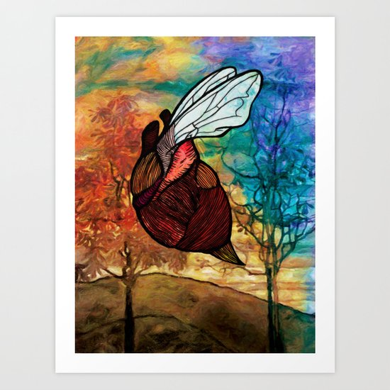Heartbug Art Print