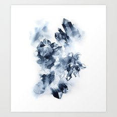 Smokey Crystals Art Print