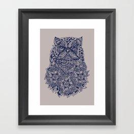 Mandala of Persian Cat Framed Art Print