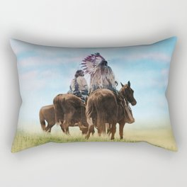 Cheyenne Warriors on the Great Plains - American Indians Rectangular Pillow