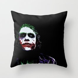 Heath's Joker Pop art Portrait Throw Pillow