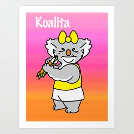 Koalita leaves sandwich Art Print