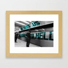 Limbo- Prison (Blue) Framed Art Print