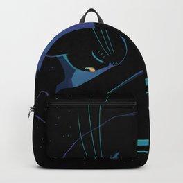 Sleeping MoonCat (fluorescent variant) Backpack