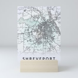Shreveport, LA, USA, White, City, Map Mini Art Print
