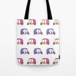 Funky rickshaws pattern Tote Bag
