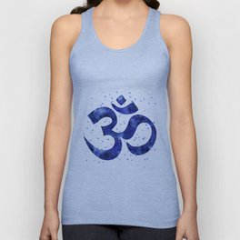Ohm Symbol Blue Unisex Tank Top
