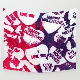 valentine love hearts Wall Tapestry