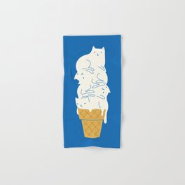 Cats Ice Cream Hand & Bath Towel