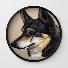 Fenris the Siberian Husky Wall Clock