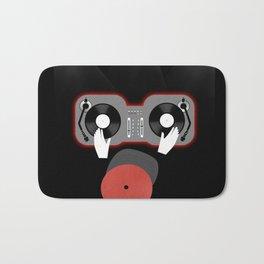 Red DJ Bath Mat