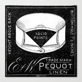 black and white vintage shirt collar retro laundry room Canvas Print