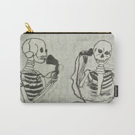 Skeleton's telephone. Carry-All Pouch
