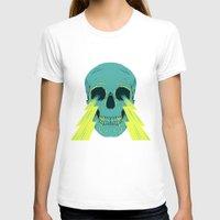 lightning T-shirts featuring Lightning Skull by Eyes Wide Awake