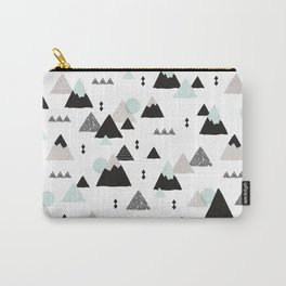 Geometric Fuji mountain japan travel pattern Carry-All Pouch