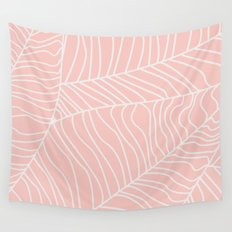 TROPICAL LEAVES - pink palette Wall Tapestry