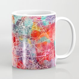 Springfield map Massachusetts painting 2 Coffee Mug
