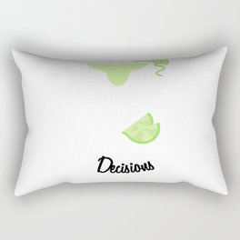 Making Pour Decisions with Margarita Glass Rectangular Pillow