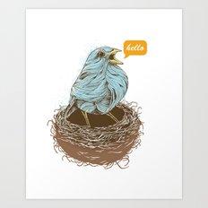 Twisty Bird Art Print