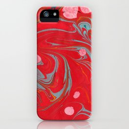 Red Marbled iPhone Case