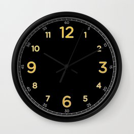 Numerato - Black Wall Clock