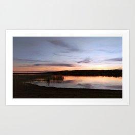 Sunset Lake II Art Print