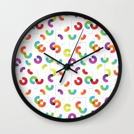 Funny color design. Arcs and Lines #1 Wall Clock