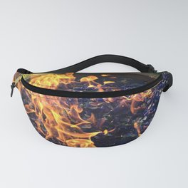 Fire on Blue Fanny Pack