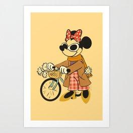 """Weekend Minnie Mouse"" by Haley Tippmann Art Print"