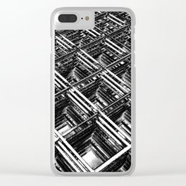 Rebar On Rebar - Industrial Abstract Clear iPhone Case