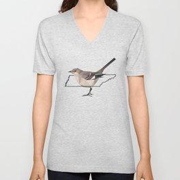 Tennessee – Northern Mockingbird Unisex V-Neck