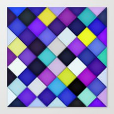 Quilted with Halftone Canvas Print