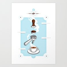 4 reasons why coffee is awesome Art Print