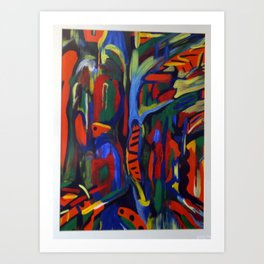 acrylic abstract  Art Print