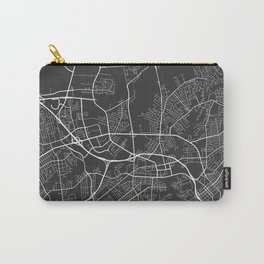 Hampton Map, USA - Gray Carry-All Pouch