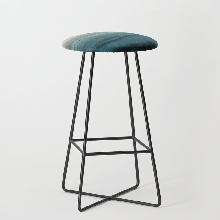 WITHIN THE TIDES - CRASHING WAVES TEAL Bar Stool