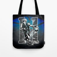 basketball Tote Bags featuring Basketball by Alea Lefevre