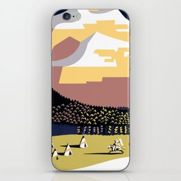 Vintage See America - Montana Travel iPhone Skin