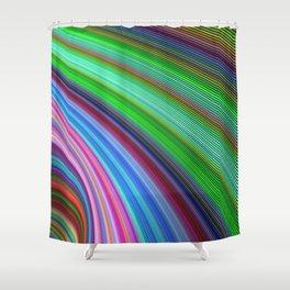 Striped Vortex Shower Curtain