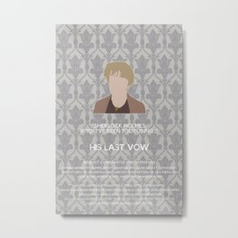 His Last Vow - Mrs. Hudson Metal Print