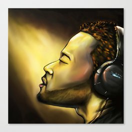 John Legend (Wearing Headphones) Canvas Print