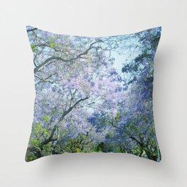 Jacaranda Canopy Throw Pillow