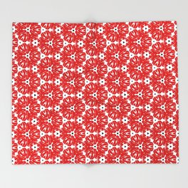 Broken Heart Flowers Throw Blanket