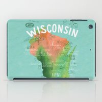 wisconsin iPad Cases featuring Wisconsin Map by Stephanie Marie Steinhauer