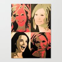 sex and the city Canvas Prints featuring Sex And The City by Pop Artist