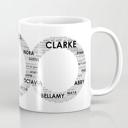 The 100 - Typography Art [black text] Coffee Mug