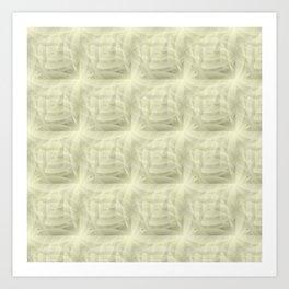 Plump Olive Shapes pattern Art Print