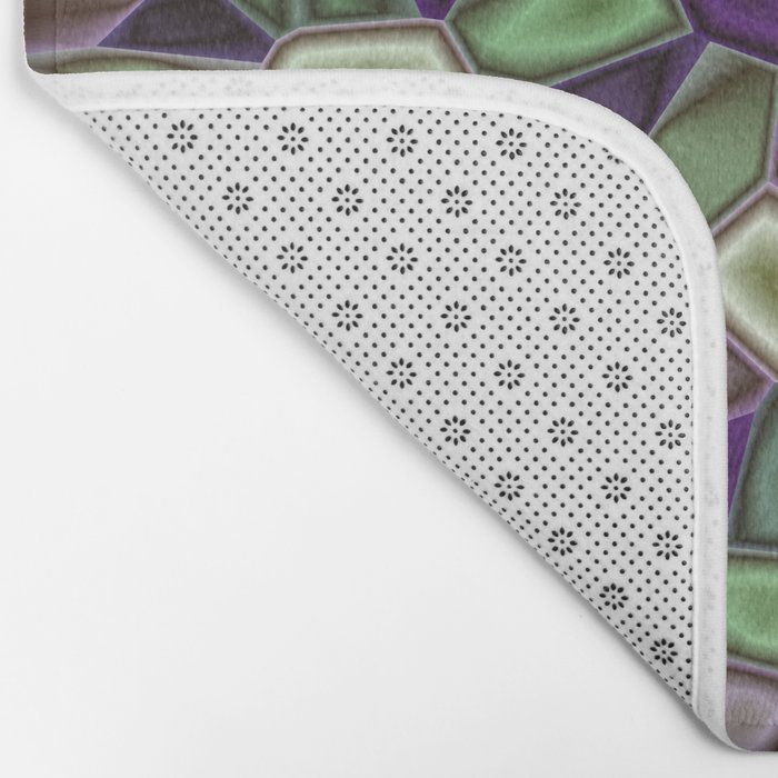 Fractal Gems 02 - Purples and Greens Bath Mat